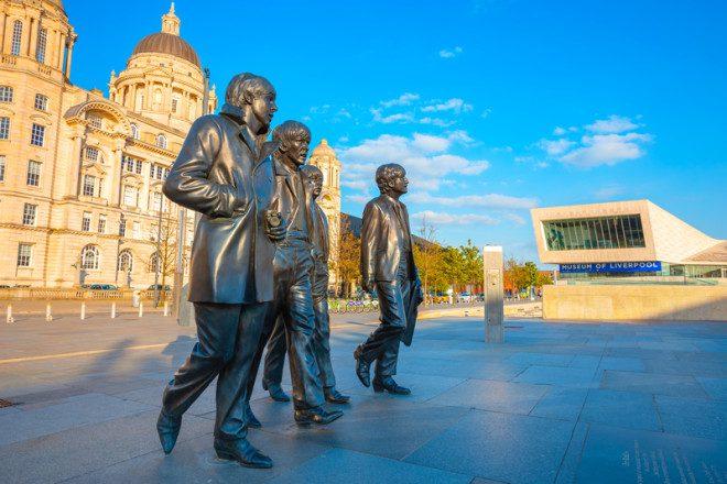 Imagens dos Beatles é um dos pontos a visitar em Liverpool. © Cowardlion | Dreamstime.com
