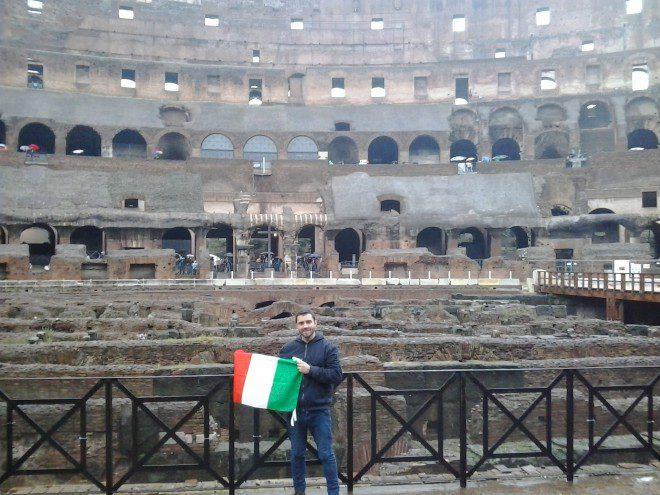 O brasileiro Breno Imenez, adquiriu a cidadania italiana recentemente devido seus trisavós serem italianos. Foto: Arquivo Pessoal