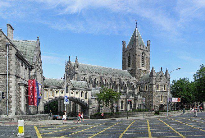 Christ Church é um dos legados da era viking em Dublin. Reprodução: Wikipedia