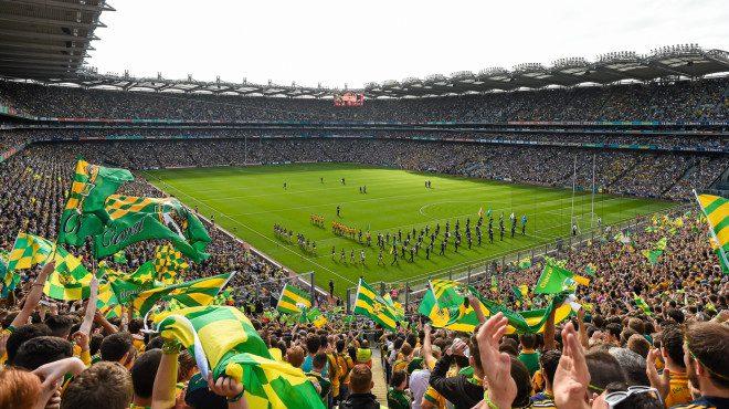 Temporada final do Campeonato de esportes gaélico. Reprodução: Croke Park
