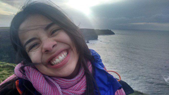 Renata Reis cursa psicologia na National College of Ireland. @ Arquivo Pessoal