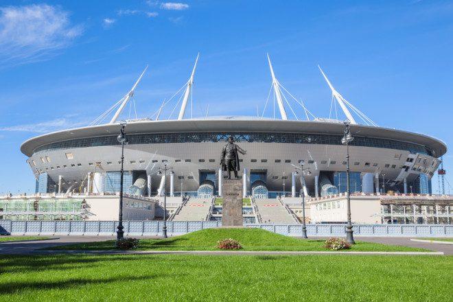 Estádio Krestovsky, em St. Petersburg, vai abrigar jogo do Brasil Foto: Galina Ermolaeva/Dreamstime