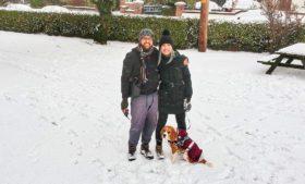 Tempestade de neve na Irlanda