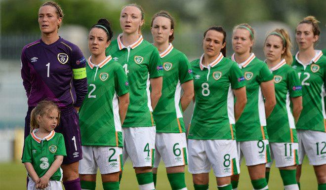 Time irlandês na Copa do Mundo feminina da FIFA. foto: Extra