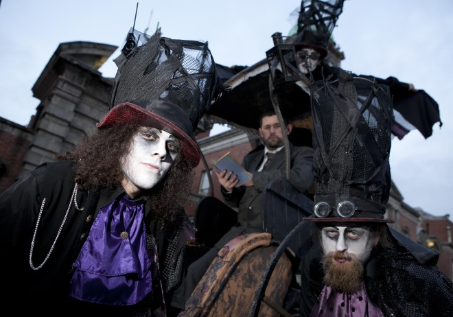 Bram Stoker Festival traz diversas atrações para Dublin neste Halloween. Imagem: Bram Stoker Festival