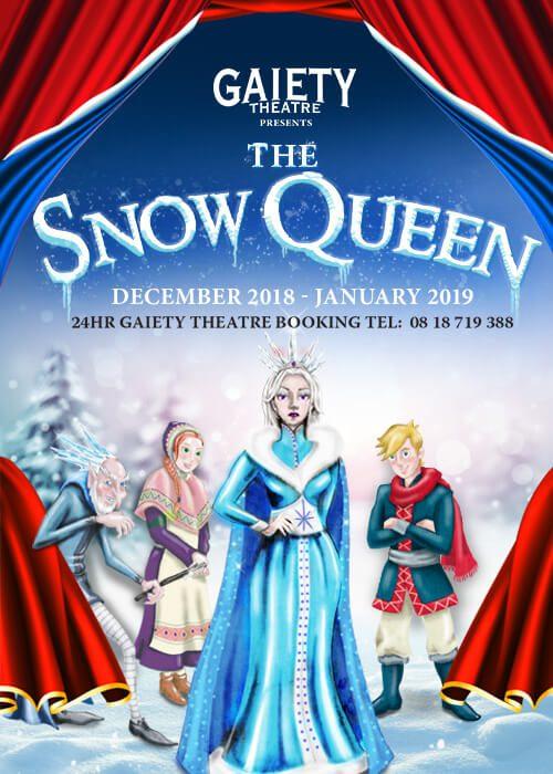 Pantomina Snow Queen está em cartaz no Gaiety Theatre. Foto: Gaiety