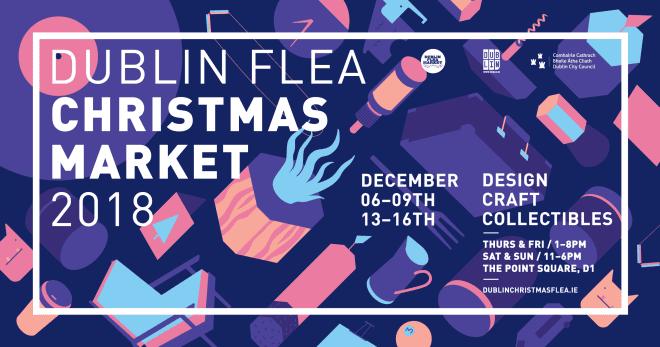 Dublin Flea Christmas Market é opção para encontrar presentes de Natal. Foto: Flea Market