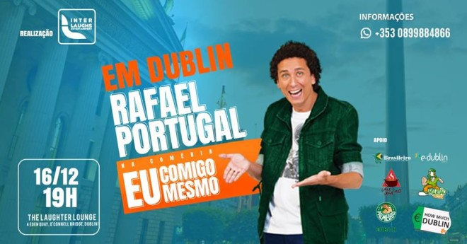 Humorista do Porta dos Fundos se apresenta em Dublin. Foto: Facebook
