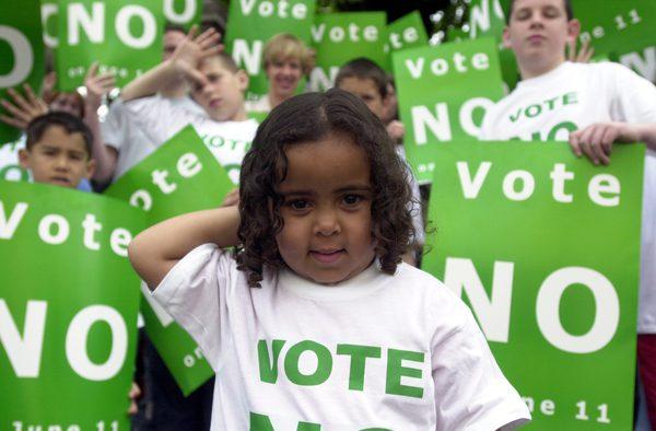 Campanha não conseguiu evitar aprovação da 27ª emenda. Foto: The Journal