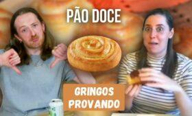 Gringos provando Pão Doce de padaria