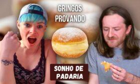 Gringos provando Sonho de padaria